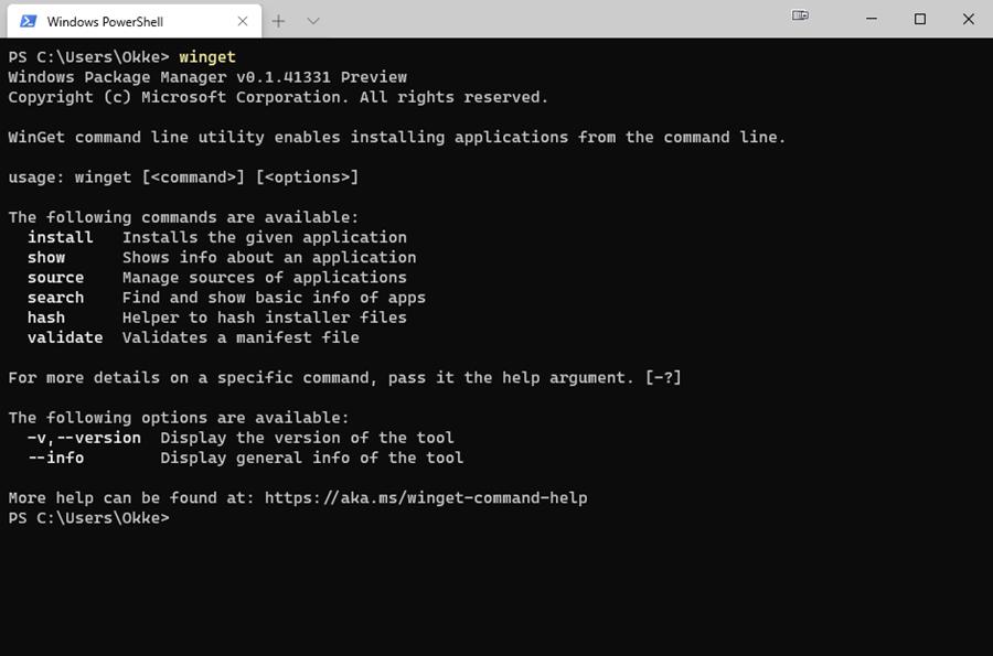 WinGet Windows Terminal